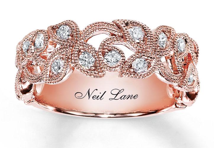 verigheta cu diamante din aur roz