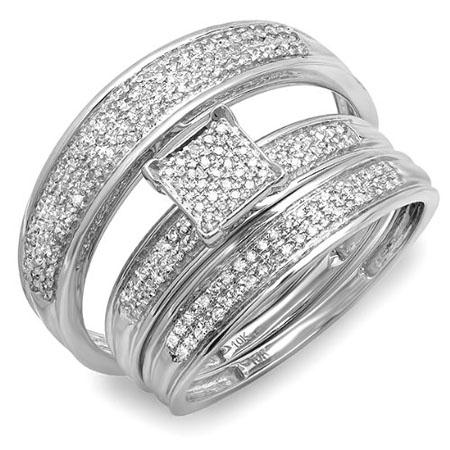 verighete aur alb cu diamante