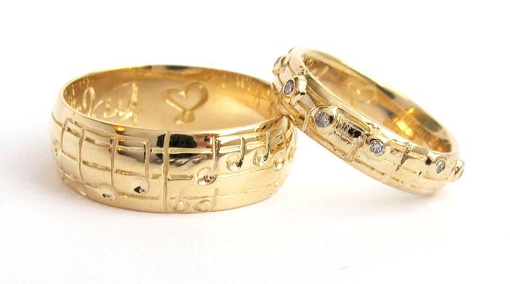 verighete aur galben cu note muzicale