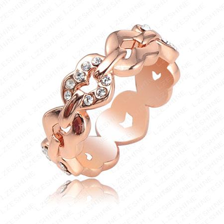 verighete aur roz cu inimioare si diamante