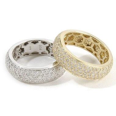 verighete din aur galben si alb cu diamante