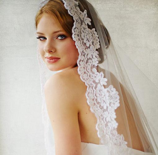voal nunta brodat