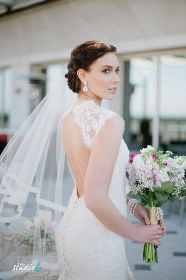 voal nunta din organza