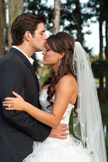 voal nunta lung