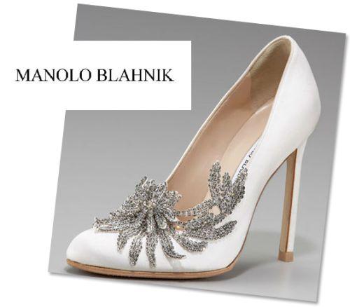 pantofi mireasa Lebada Manolo Blahnik