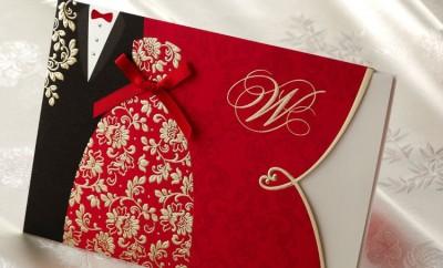Modele de invitatii nunta rosii