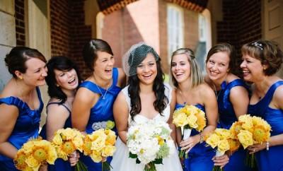 Modele de rochii albastre pentru domnisoare de onoare
