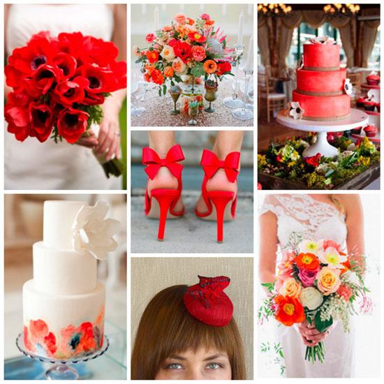Modele de tort de nunta rosu