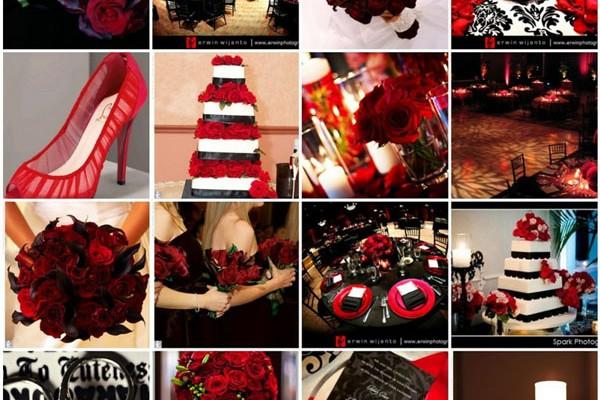 Modele pentru tortul miresei rosu