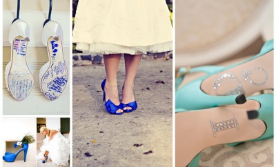 Pantofi de mireasa albastri