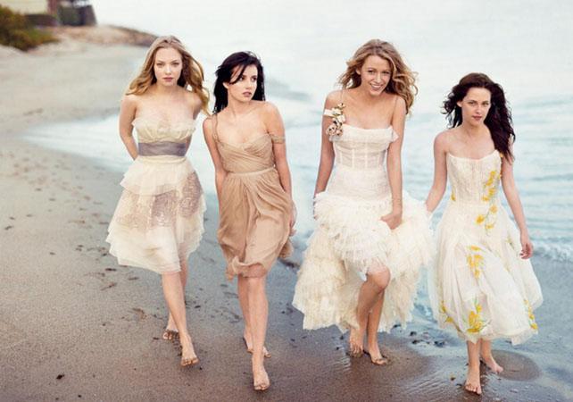 Rochii  la moda domnisoare de onoare pentru nunta pe plaja