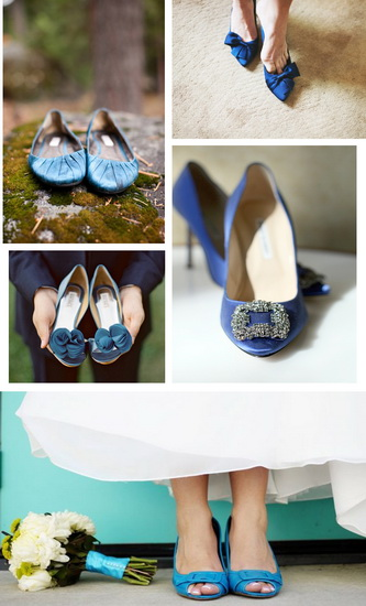 balerini albastri pentru mirese