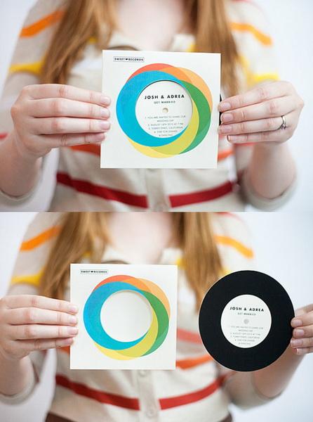 disc audio cu invitatie de nunta