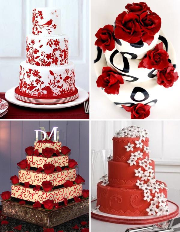 idei de tort rosu pentru nunta