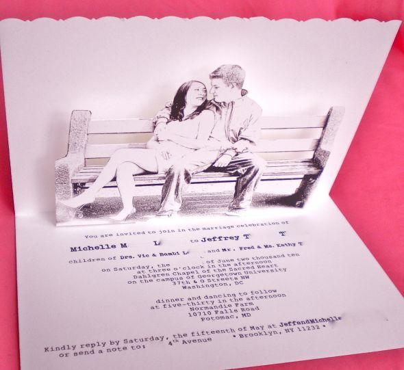 invitatie 3D pentru nunta