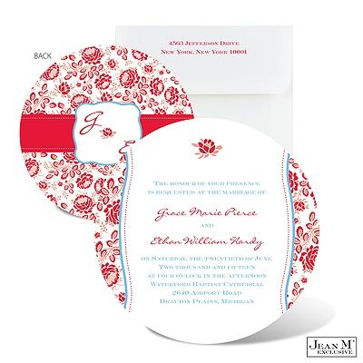 invitatie cu flori pentru nunta