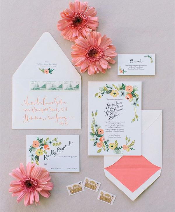invitatie de nunta colorata
