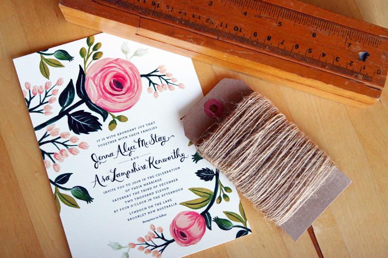 invitatie de nunta cu Motive florale