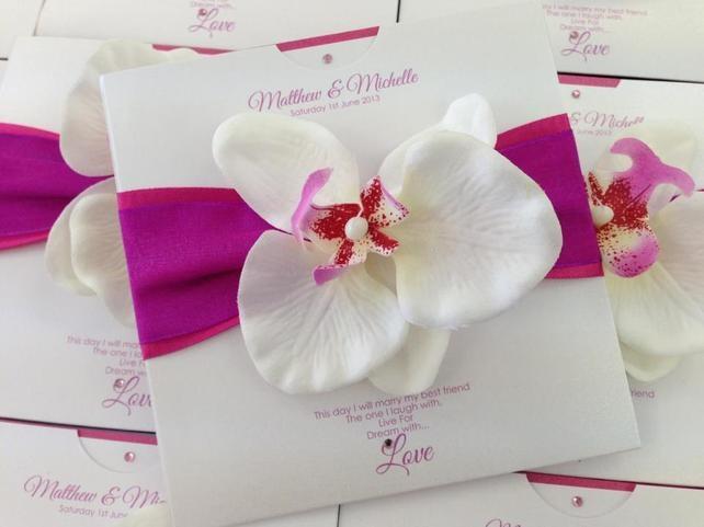 invitatie de nunta cu orhidee