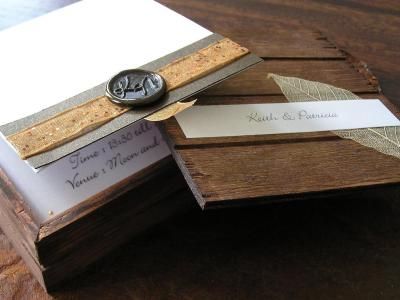 invitatie de nunta in cutie vintage