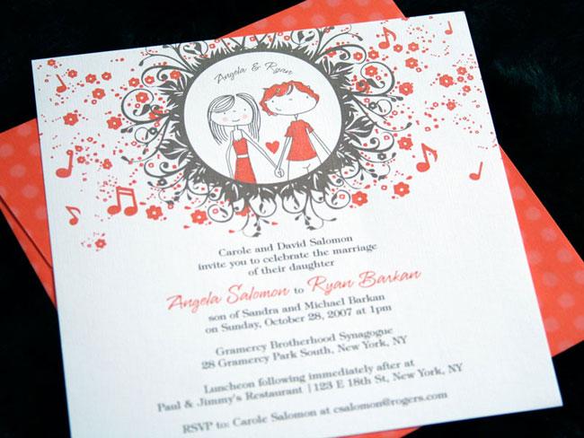 invitatie de nunta inedita