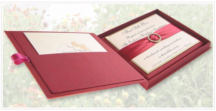 invitatie de nunta rosie