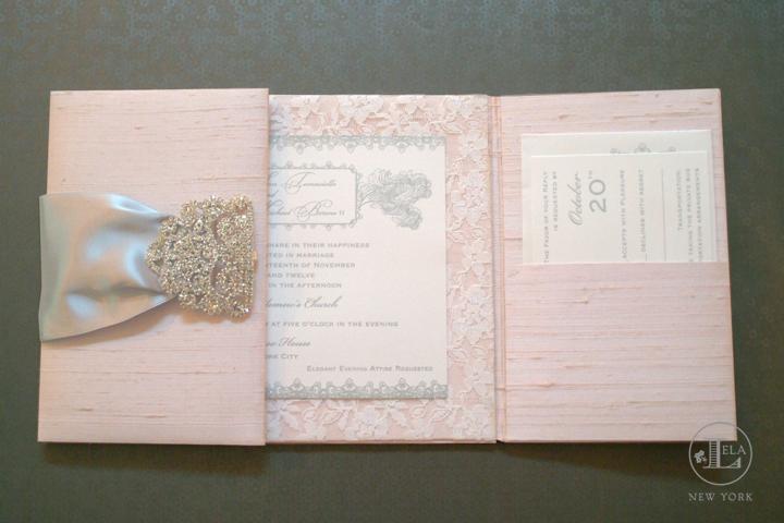 invitatie din materiale pretioase pentru nunta