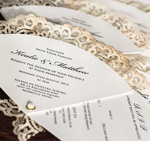 Wedding Vintage Fan Invitations | Wedding and Party Invitations