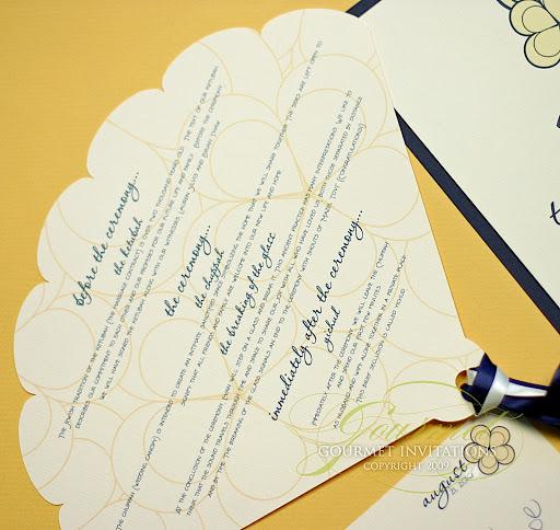 invitatie galbena nunta