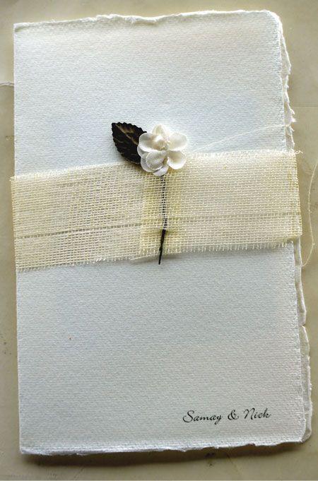 invitatie handmade