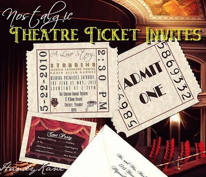 invitatie la nunta pe bilet la teatru