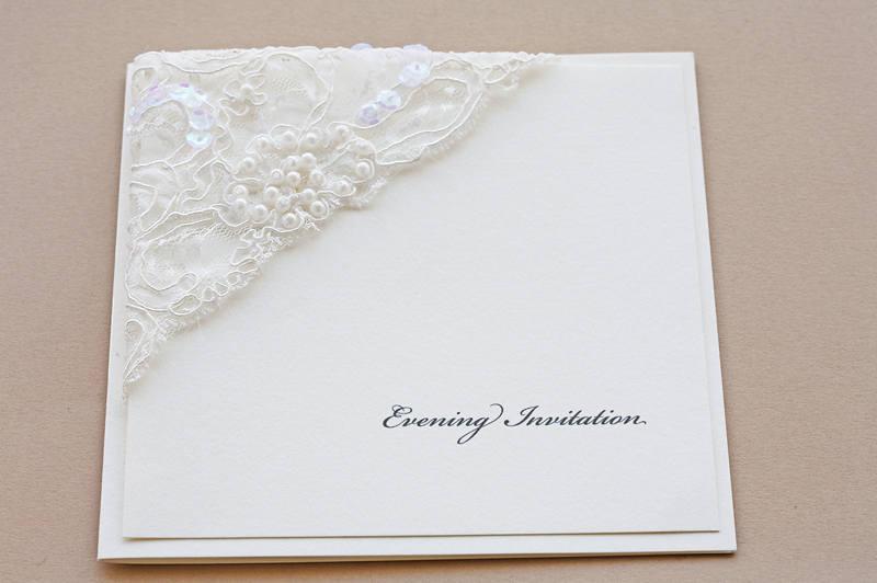 invitatie nunta cu perle