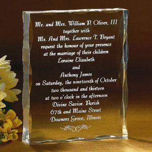 invitatie nunta din sticla
