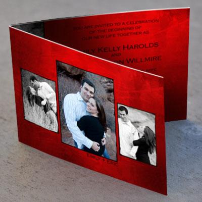invitatie nunta rosie cu poze
