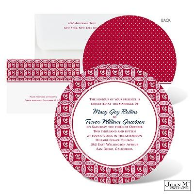 invitatie nunta rosie