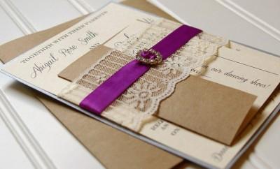invitatie nunta rustica eleganta