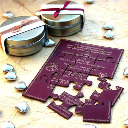 invitatie pentru nunta puzzle 2014