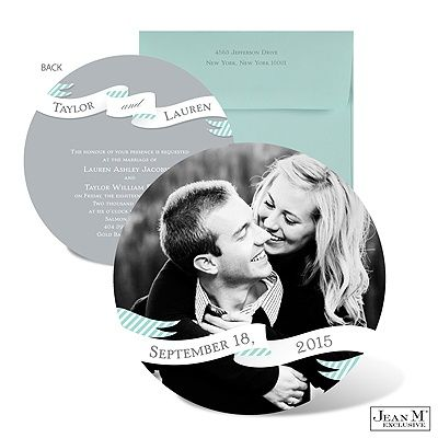 invitatie pentru nunta rotunda cu poza