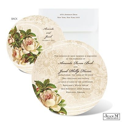 invitatie rotunda eleganta