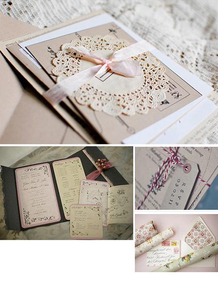 invitatie vintage pentru nunta