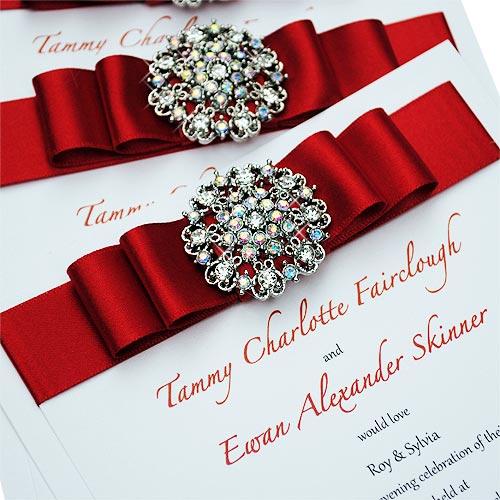 invitatii de nunta cu cristale swarovski