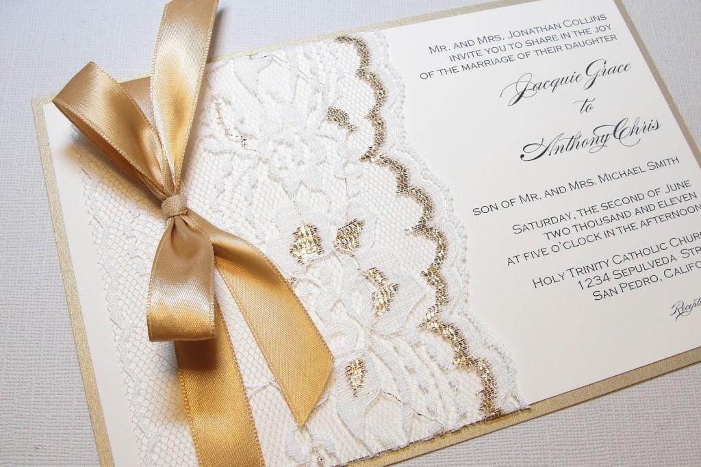invitatii de nunta cu dantela