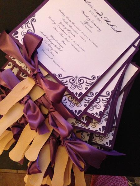 invitatii de nunta de tinut in mana