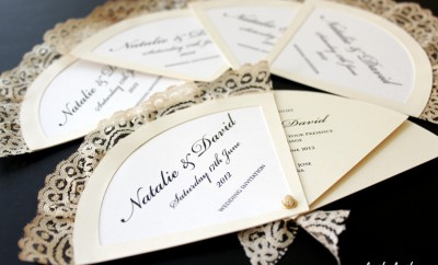invitatii de nunta evantai