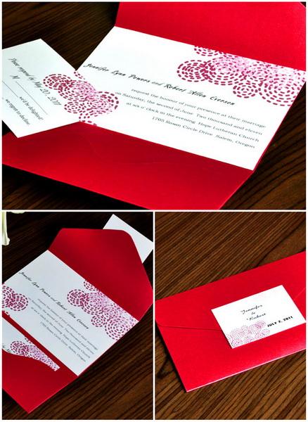 invitatii de nunta rosii