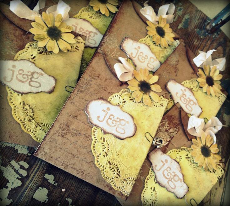 invitatii nunta cu flori presate