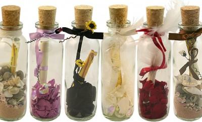 invitatii nunta in sticla