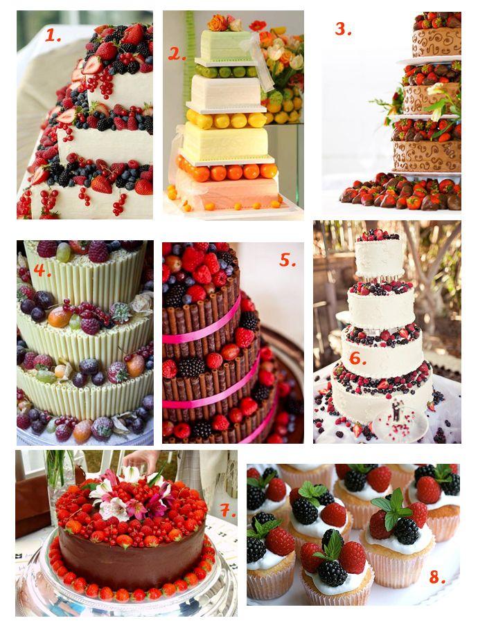 modele de tort de nunta cu fructe