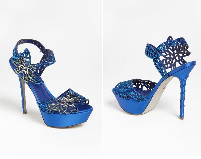 pantofi albastri pentru nunta