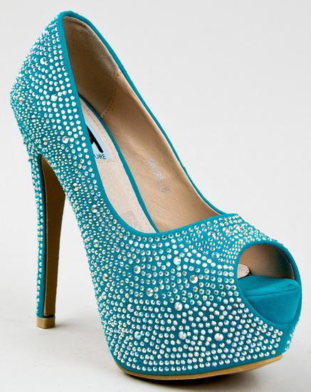 pantofi mireasa albastri cu strasuri
